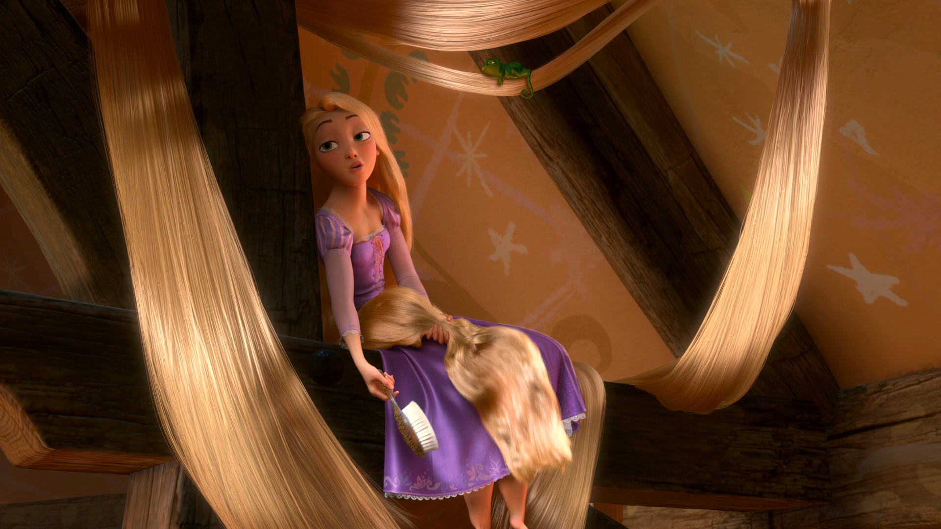 Tangled Rapunzel Brushing Hair Www Imgkid Com The